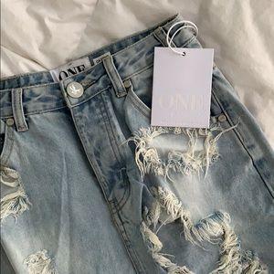 One teaspoon jean skirt